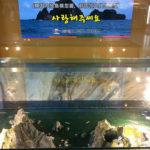 ソウル市内で見かけた竹島模型